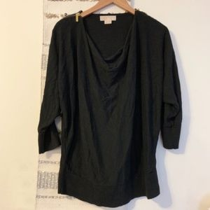 MICHAEL KORS Shoulder Zip Draped Sweater